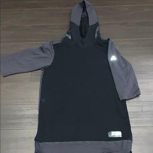 Adidas Basketball 3/4 sleeve Hoodie men's large